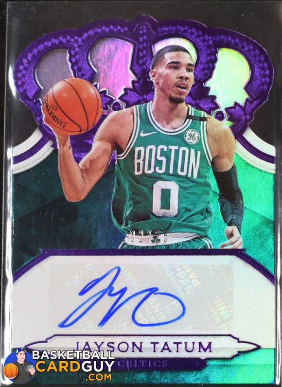 Jayson Tatum 2018-19 Crown Royale Crown Autographs Purple #/25 - Basketball Cards