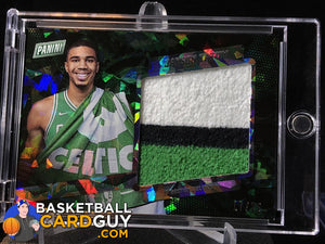 Jayson Tatum Panini Cracked Ice Rookie Used Towel Patch /25 - Basketball Cards