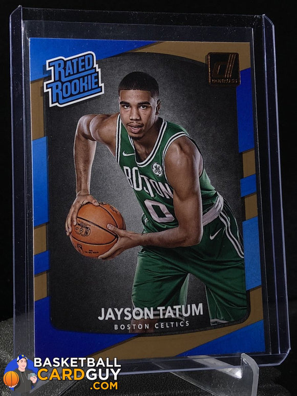 Jayson Tatum RC 2017-18 Donruss #198 Rated Rookie - Basketball Cards