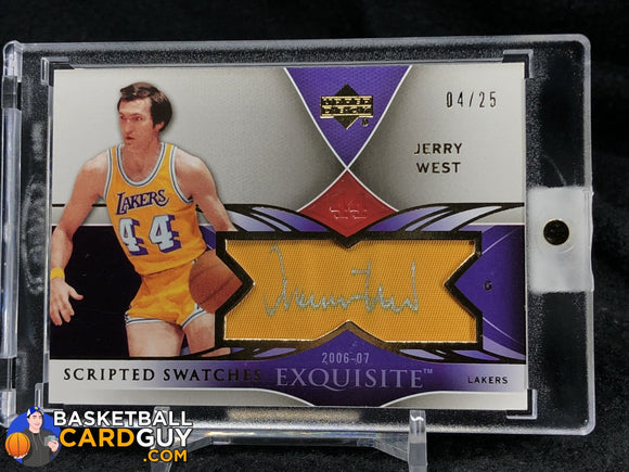Jerry West 2006-07 Exquisite Collection Scripted Swatches #/25 - Basketball Cards
