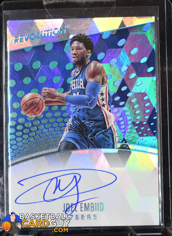 Joel Embiid 2017-18 Panini Revolution Autographs Cubic #/25 - Basketball Cards