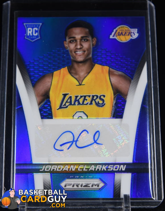 Jordan Clarkson 2014-15 Panini Prizm Rookie Autographs Prizms #/499 autograph, basketball card, numbered, prizm, refractor