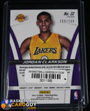 Jordan Clarkson 2014-15 Panini Prizm Rookie Autographs Prizms Red #/199 autograph, basketball card, numbered, prizm, refractor