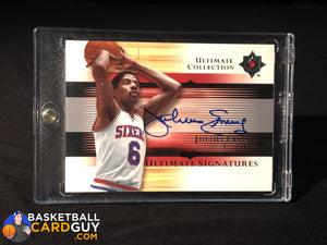 Julius Erving 2005-06 Ultimate Collection Signatures SP autograph basketball card exquisite numbered patch