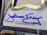 Julius Erving 2006-07 Exquisite Collection Limited Logos 16/50 Autograph Basketball Card Exquisite Numbered Patch