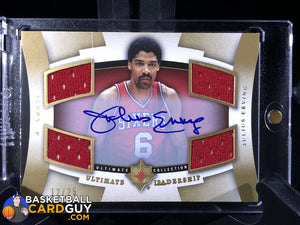 Julius Erving 2007-08 Ultimate Collection Leadership Autographs - Basketball Cards