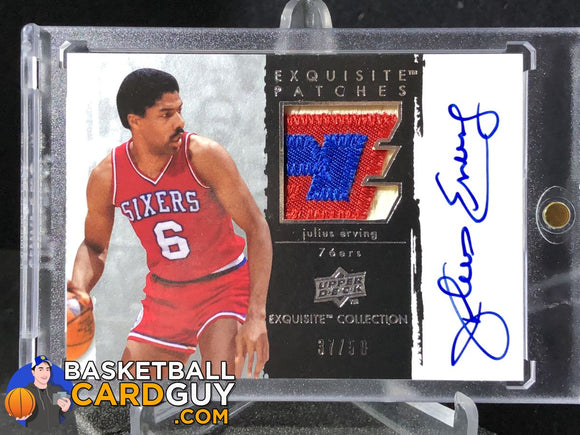 Julius Erving 2009-10 Exquisite Collection Autographs Patches - Basketball Cards