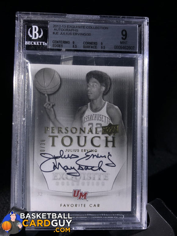 Julius Erving 2011-12 Exquisite Collection Personal Touch Car #PTCJE BGS 9 - Basketball Cards
