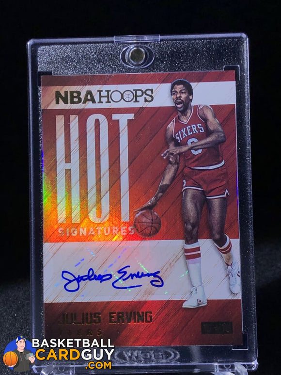 Julius Erving  2015-16 Hoops Hot Signatures - Basketball Cards