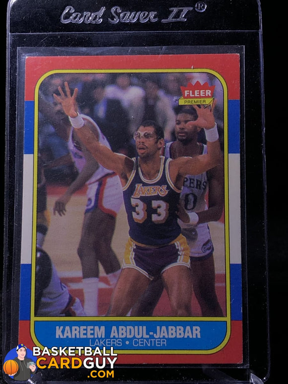 Kareem Abdul-Jabbar 1986-87 Fleer #1 - Basketball Cards