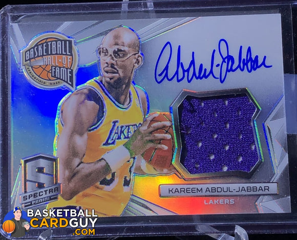 Kareem Abdul-Jabbar 2014-15 Panini Spectra Hall of Fame Autograph Materials #/35 - Basketball Cards