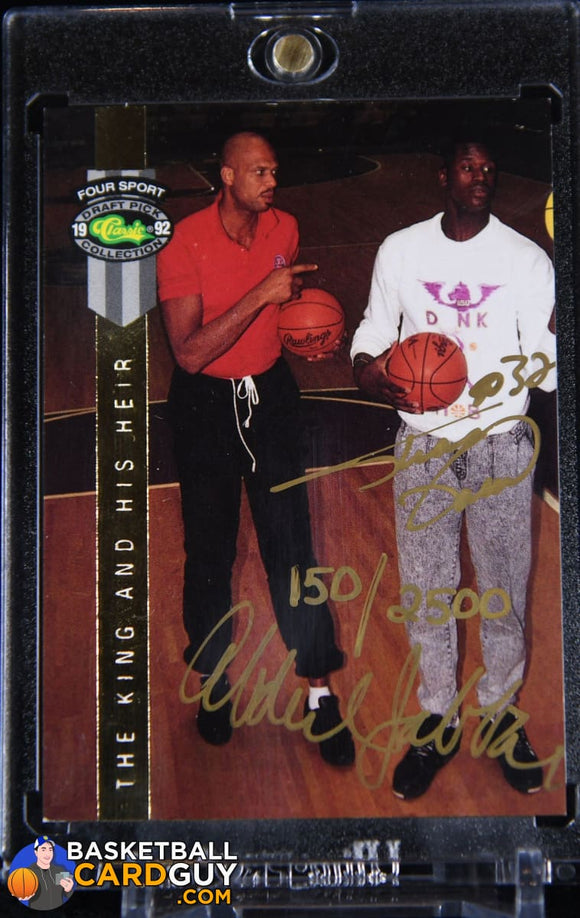 Kareem Abdul-Jabbar / Shaquille O'Neal 1992 Classic Four Sport LPs AU #/2500 autograph, basketball card, numbered