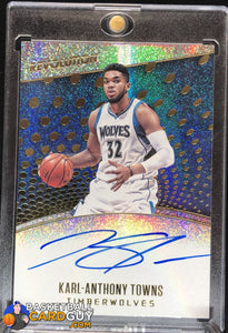 Karl-Anthony Towns 2017-18 Panini Revolution Autographs - Basketball Cards