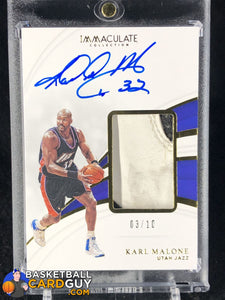 Karl Malone 2018-19 Immaculate Collection Sneaker Swatches Signatures Jumbo #/10 - Basketball Cards