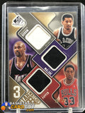 Karl Malone/Scottie Pippen/George Gervin 2009-10 SP Game Used 3 Star Swatches #/35 #3SMGP - Basketball Cards
