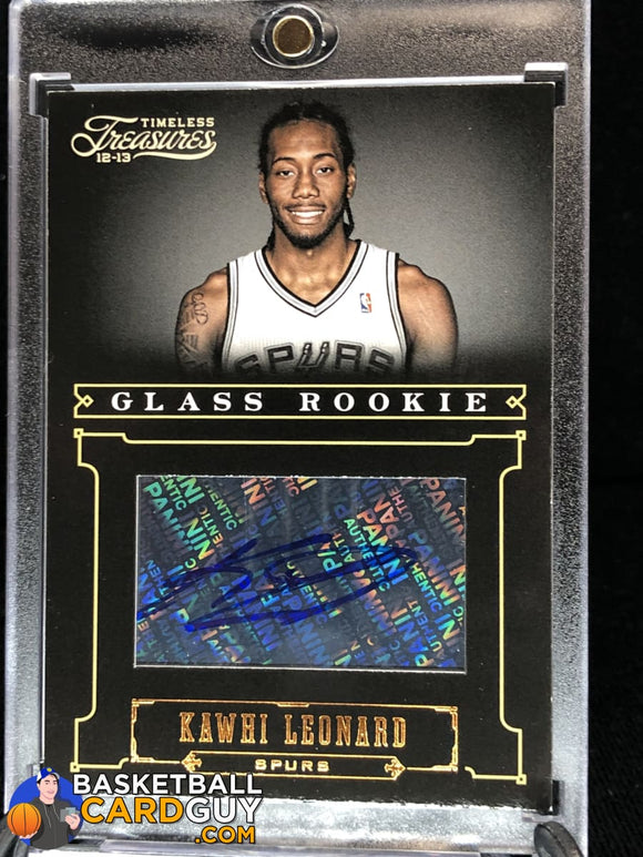 Kawhi Leonard 2012-13 Timeless Treasures Glass Rookie #/499 RC autograph basketball card numbered