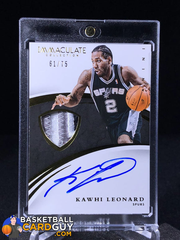 Kawhi Leonard 2014-15 Immaculate Autograph Patch /75 - Basketball Cards