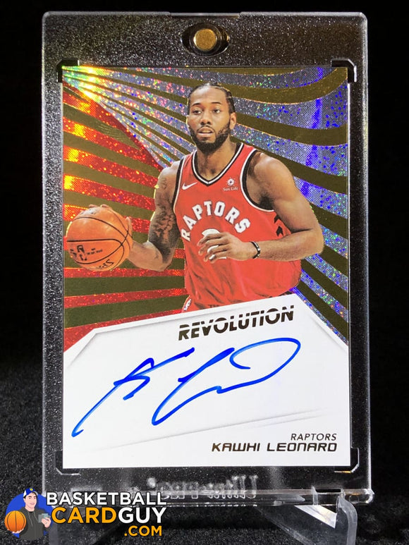 Kawhi Leonard 2018-19 Panini Revolution Autographs #14 - Basketball Cards