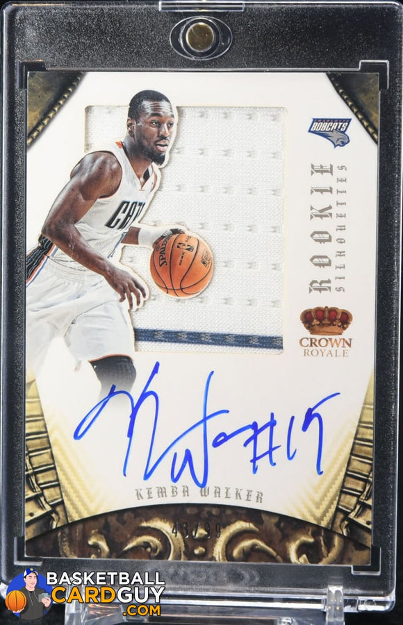 Kemba Walker 2012-13 Panini Preferred Silhouettes RC Jersey Auto #43/199 - Basketball Cards
