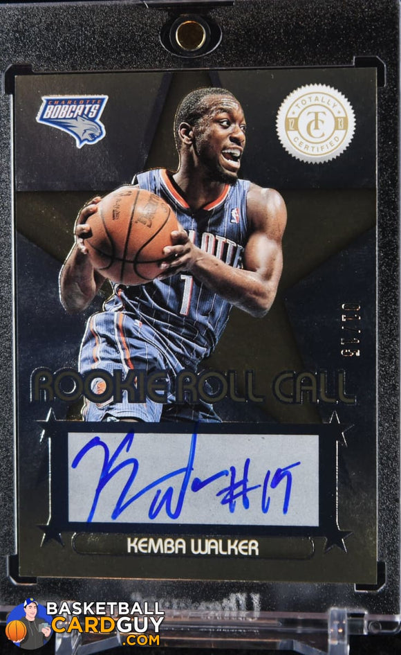 Kemba Walker 2012-13 Totally Certified Rookie Roll Call Autographs Gold #01/15 (JERSEY NUMBERED) - Basketball Cards