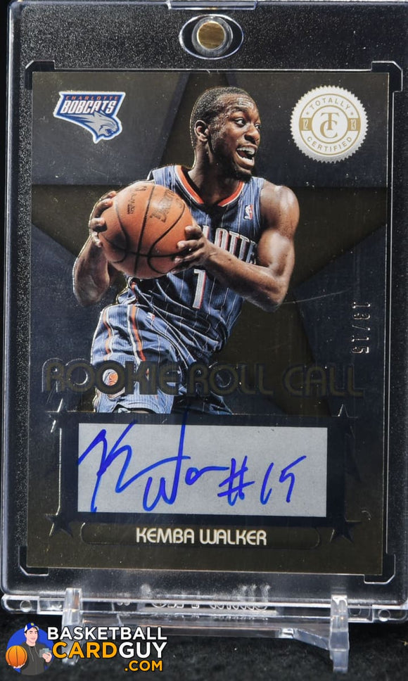 Kemba Walker 2012-13 Totally Certified Rookie Roll Call Autographs Gold #13/15 - Basketball Cards