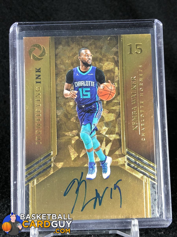 Kemba Walker 2017-18 Panini Opulence Identifying Ink #/35 - Basketball Cards