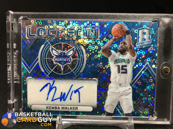 Kemba Walker 2017-18 Panini Spectra Locked In Autographs Neon Blue #/49 - Basketball Cards