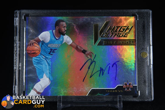 Kemba Walker 2017-18 Panini Vanguard High Voltage Signatures #/49 autograph, basketball card, numbered