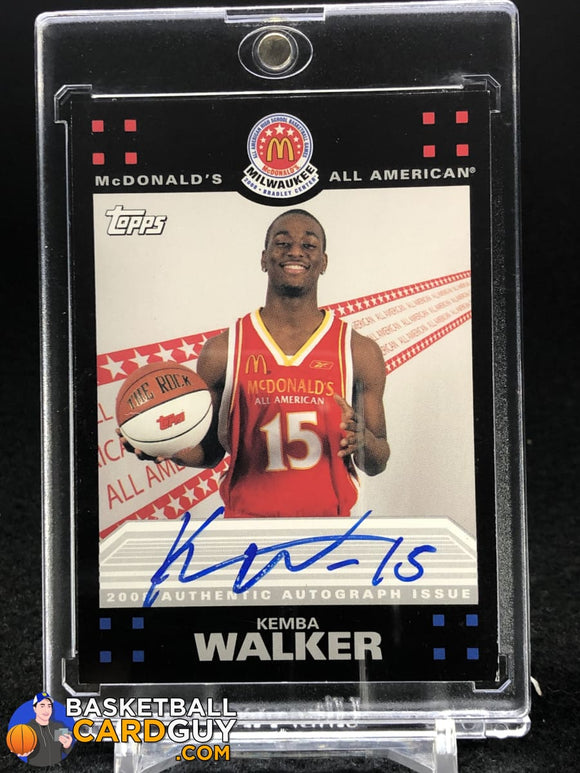 Kemba Walker Mcdonald's Topps RC Autograph - Basketball Cards