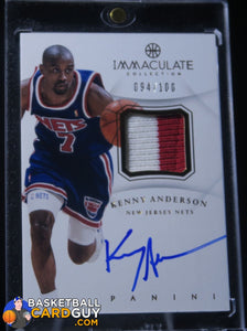 Kenny Anderson 2012-13 Immaculate Patch Auto - Basketball Cards