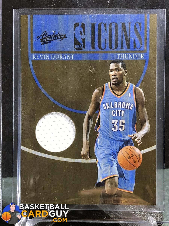 Kevin Durant 2010-11 Absolute Memorabilia NBA Icons Materials /49 - Basketball Cards