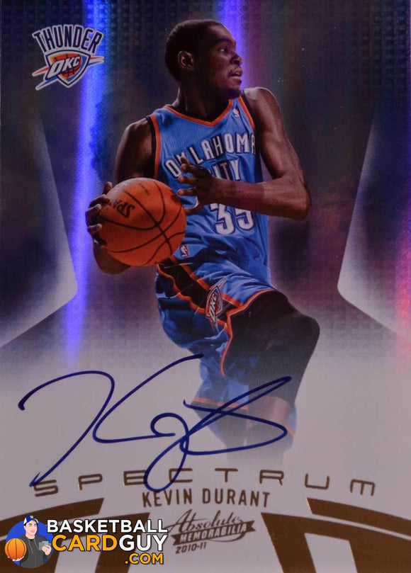 Kevin Durant 2010-11 Absolute Spectrum Autograph - Basketball Cards