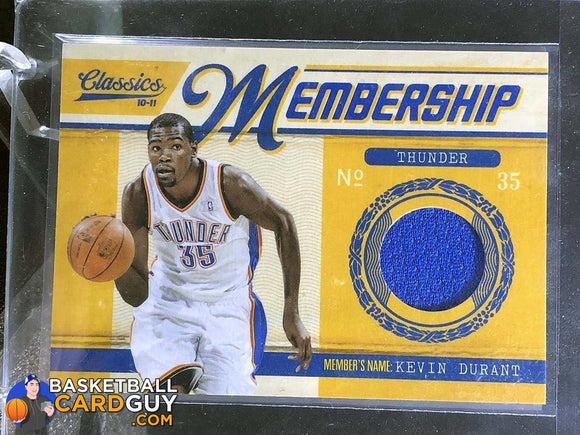 Kevin Durant 2010-11 Classics Membership Materials - Basketball Cards