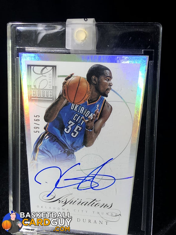 Kevin Durant 2012-13 Elite Series Aspirations Autographs #/65 - Basketball Cards