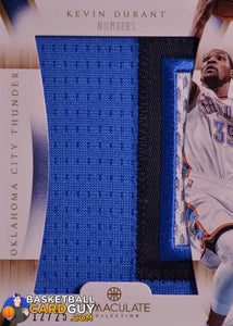 Kevin Durant 2012-13 Immaculate Numbers /25 Basketball Card Numbered Patch