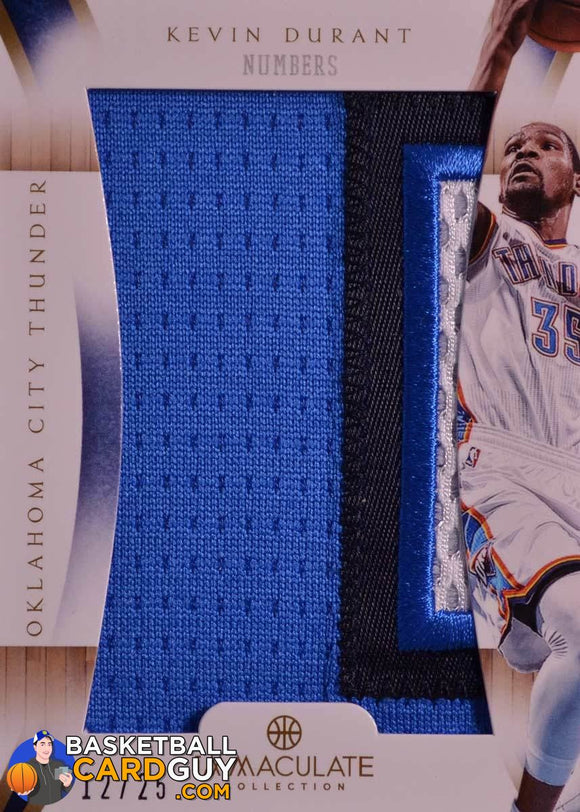 Kevin Durant 2012-13 Immaculate Numbers /25 - Basketball Cards