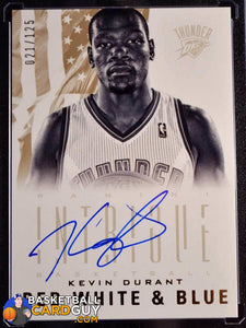 Kevin Durant 2012-13 Panini Intrigue Red White and Blue Autographs - Basketball Cards