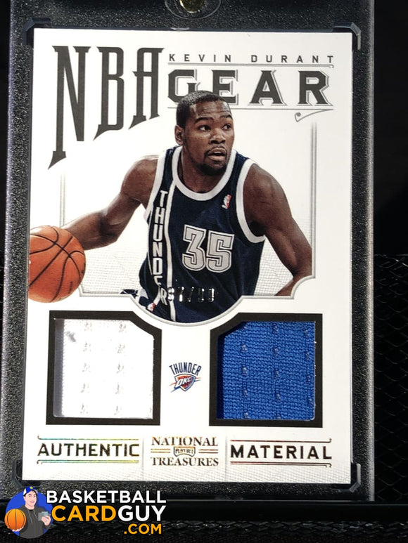 Kevin Durant 2012-13 Panini National Treasures NBA Gear Dual #/99 - Basketball Cards