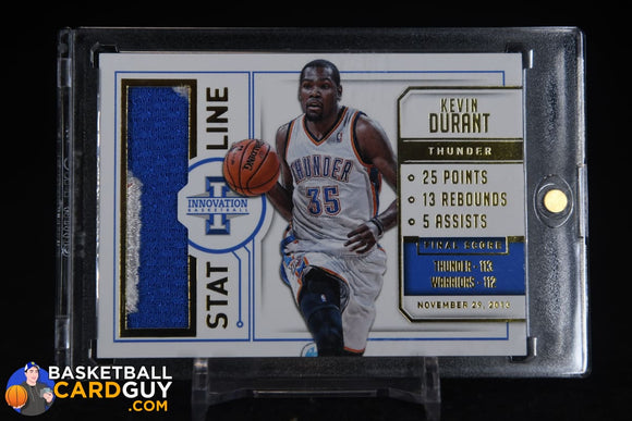 Kevin Durant 2013-14 Innovation Stat Line Jerseys Prime #/25 basketball card, numbered, patch