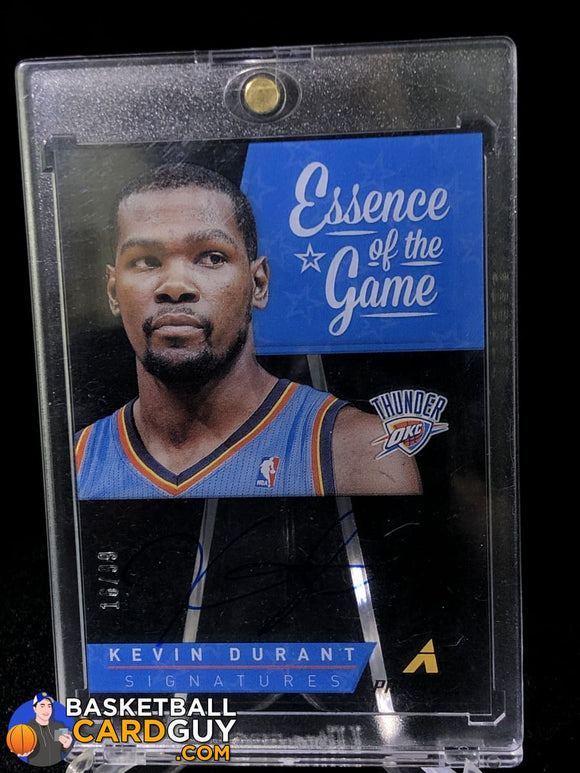 Kevin Durant 2013-14 Pinnacle Essence of The Game Auto #/99 - Basketball Cards