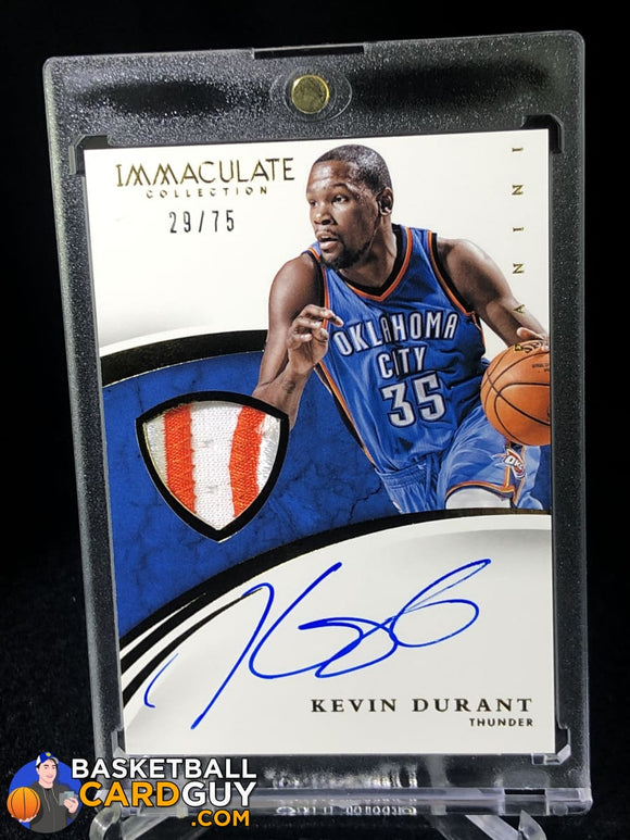 Kevin Durant 2014-15 Immaculate Collection Patches Autographs #/75 - Basketball Cards