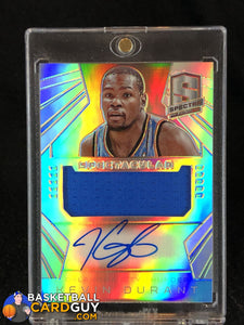 Kevin Durant 2014-15 Panini Spectra Spectacular Swatches Signatures #/35 - Basketball Cards