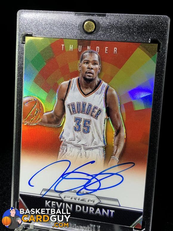 Kevin Durant 2015-16 Panini Prizm Veteran Autographs Prizms #/25 - Basketball Cards