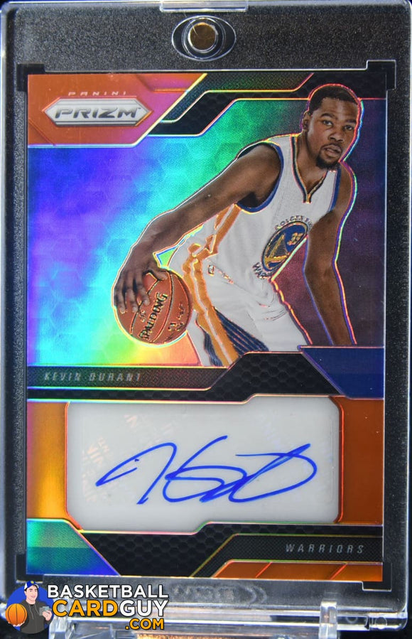 Kevin Durant 2016-17 Panini Prizm Veteran Signatures Prizms Hyper #/10 autograph,basketball card,refractor
