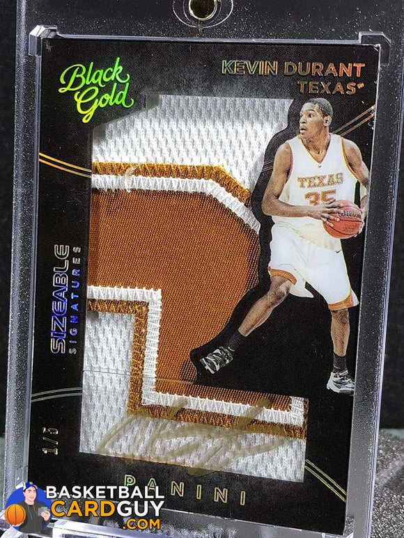 Kevin Durant 2016 Black Gold Sizeable Signatures Prime 1/1 Autograph Basketball Card Numbered Patch