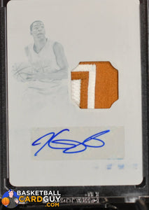 Kevin Durant 2016 Panini National Treasures Collegiate One of One Printing Plates Autograph Patch n #1/1 - Basketball Cards