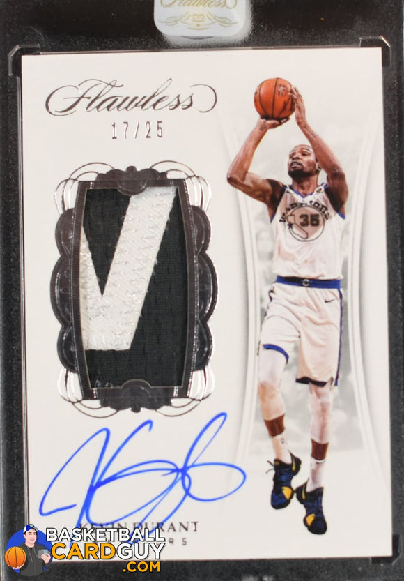 Kevin Durant 2017-18 Panini Flawless Vertical Patch Autographs #/25 - Basketball Cards