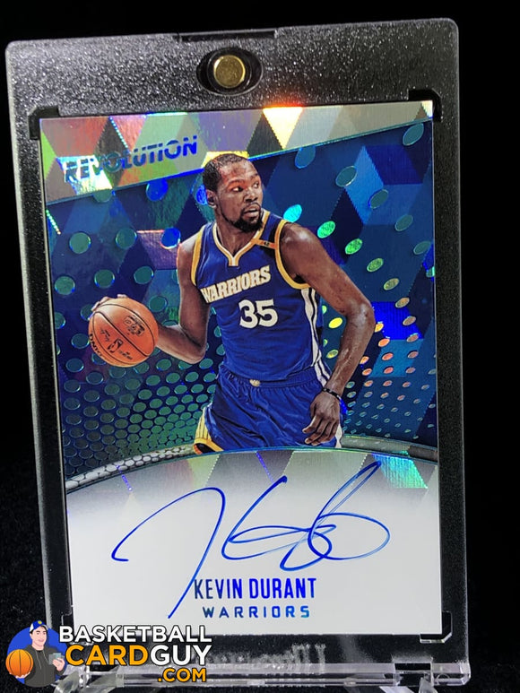 Kevin Durant 2017-18 Panini Revolution Autographs Cubic #/50 - Basketball Cards