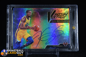 Kevin Durant 2017-18 Panini Vanguard High Voltage Signatures #/25 autograph, basketball card, numbered