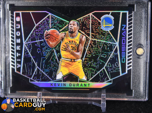 Kevin Durant 2018-19 Panini Obsidian Vitreous #6 (CASE HIT) - Basketball Cards